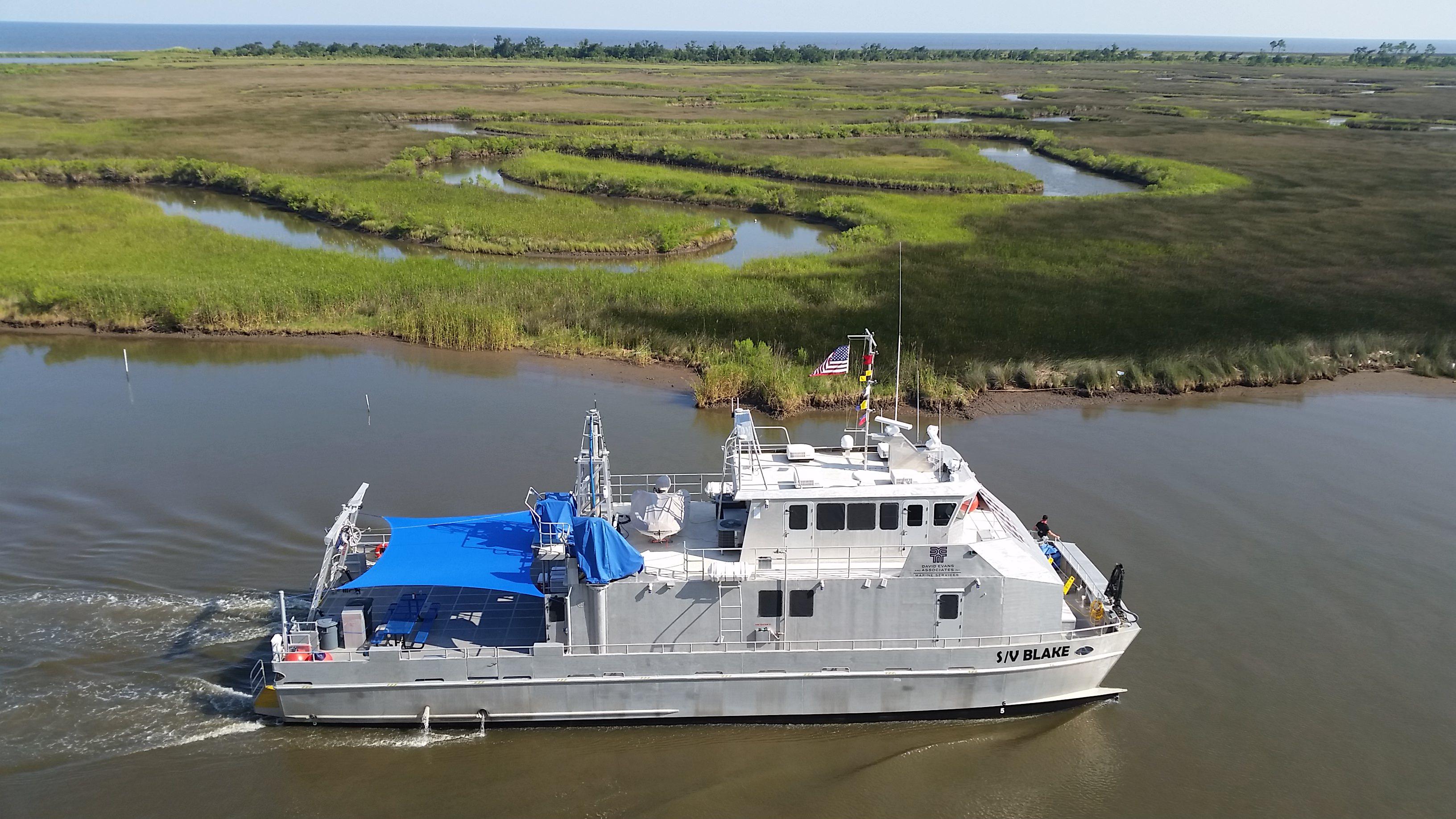 The Blake survey vessel
