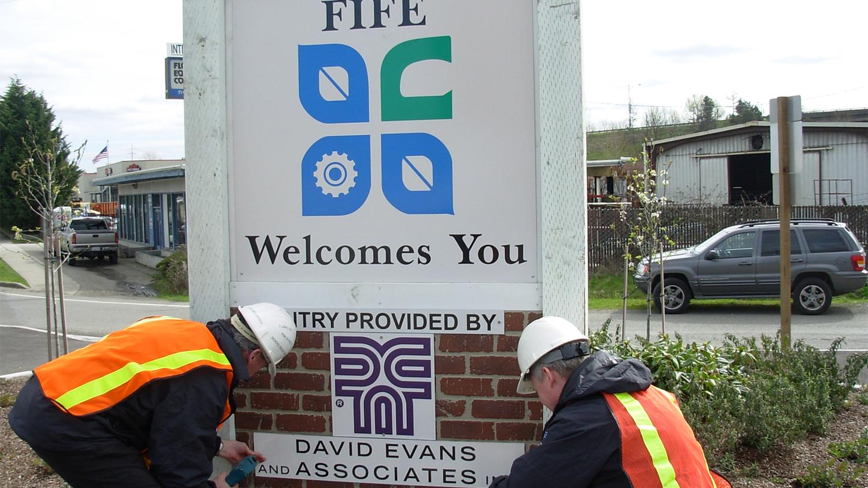 New Fife entrance