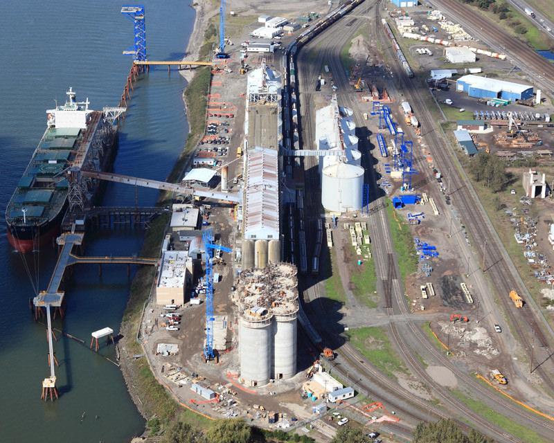 Aerial view of Kalama Modernization