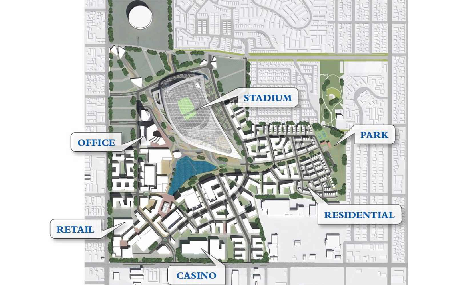 Hollywood Park, City of Champions Plan