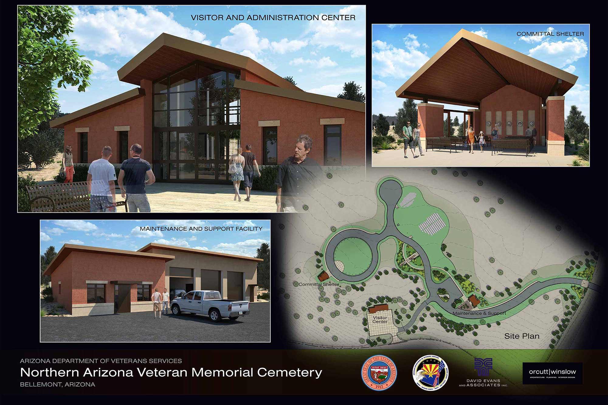 Veterans Cemetery Flagstaff Presentation Board