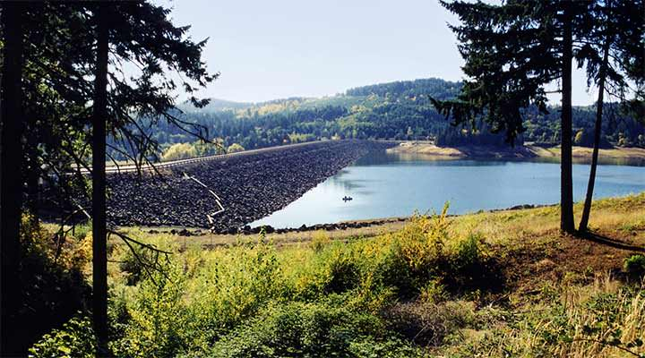 Tualatin basin water supply project dam