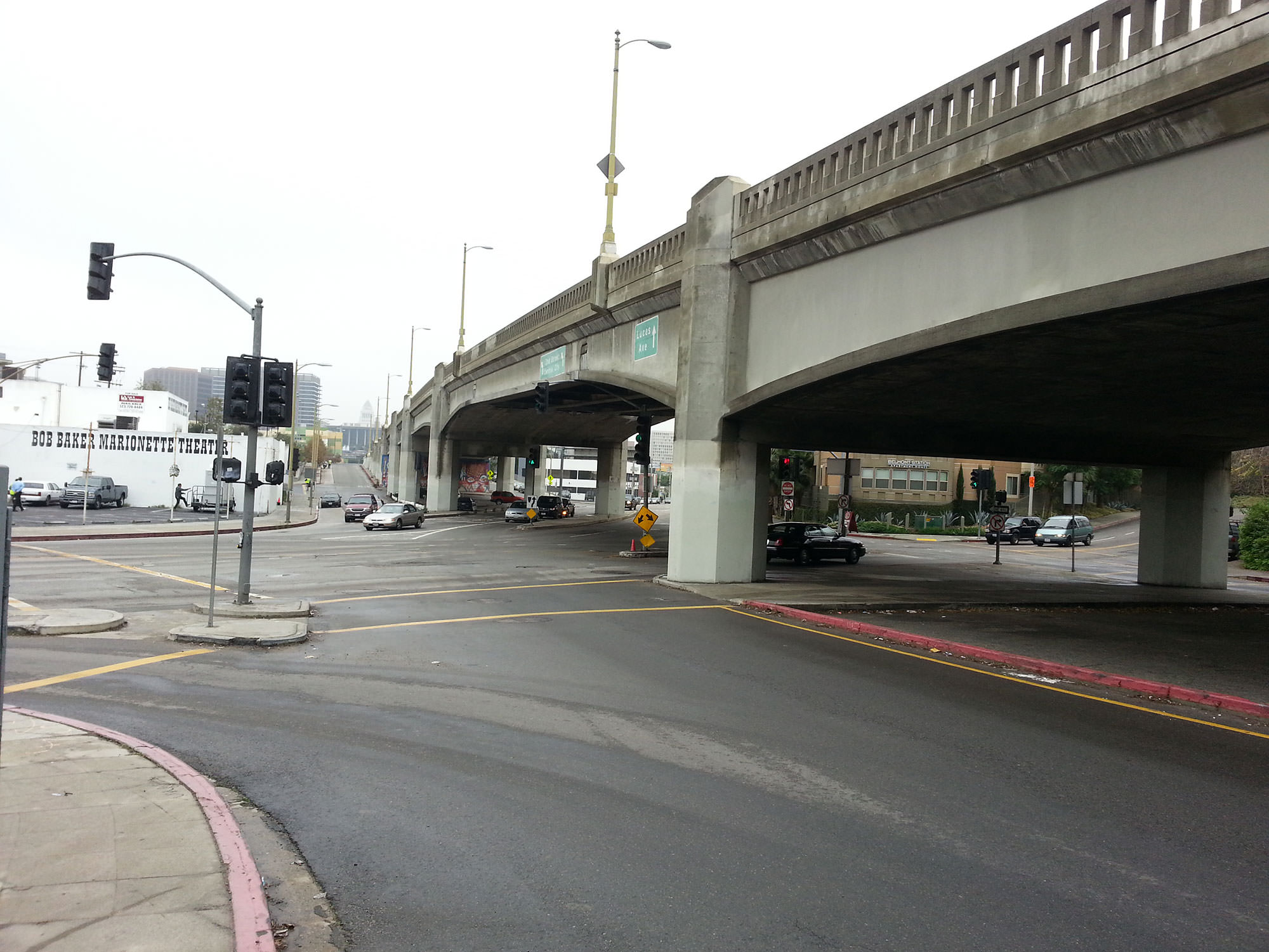 First Street over Glendale Boulevard Viaduct from below