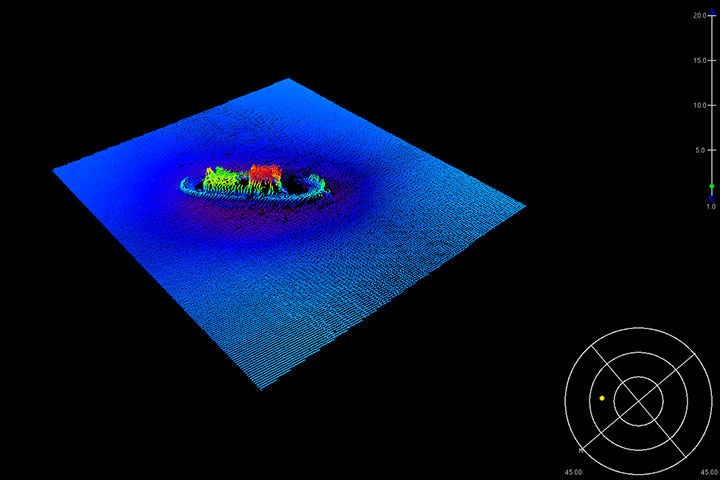 Multibeam data over wreck