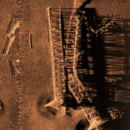 Side-Scan imagery over Rigs-to-Reefs site 2