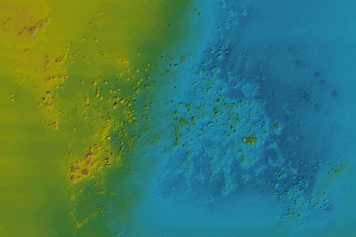 Multibeam data over Fish Haven 10 - Debris consisting of crushed concrete and bay balls